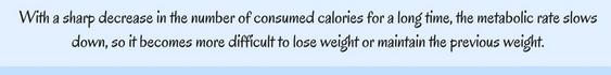 no sharp decrease in calories!