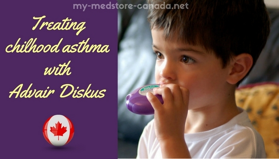 Treating chilhood asthma with Advair